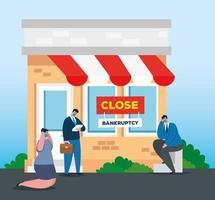 colapso da economia do coronavírus com empresários tristes