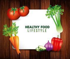 vegetais orgânicos frescos, alimentos saudáveis, estilo de vida saudável ou dieta em fundo de madeira