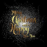 Feliz Natal e Ano Novo fundo vetor