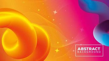 fundo abstrato com fluxo de ondas coloridas vibrantes vetor