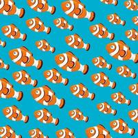 fundo padrão de peixe-palhaço vetor