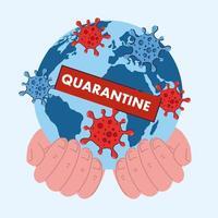 coronavírus ou quarentena covid 19 no mundo, conceito de epidemia de vírus perigoso