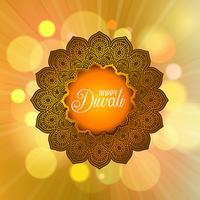 Fundo decorativo de Diwali vetor