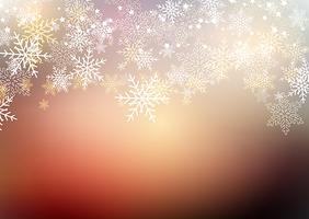 Flocos de neve de inverno vetor