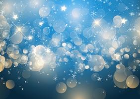 Floco de neve de Natal e estrelas vetor