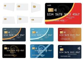 ilustração de design de vetor de estilo de cartão de crédito isolada no fundo branco
