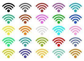 ilustração vetorial wi-fi internet conjunto isolado no fundo branco vetor