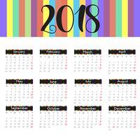 Design moderno calendário vetor