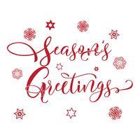 Natal estações cumprimentando o fundo de tipografia