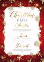 Design de menu de Natal vetor