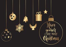 Decorações de Natal penduradas