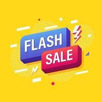 venda flash, design de modelo de banner de marketing online. ilustração vetorial