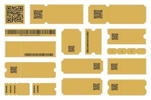 cupom, voucher de oferta, modelo de cartão de ingresso para o projeto. ilustração vetorial vetor