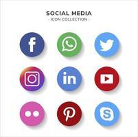 coleção de logotipo de mídia social design de vetor gratuito editável eps 10 redimensionável