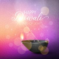 Diwali ilumina o fundo vetor