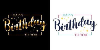 vetor feliz aniversário
