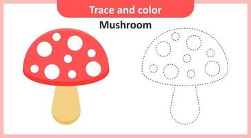 traço e cogumelo colorido vetor