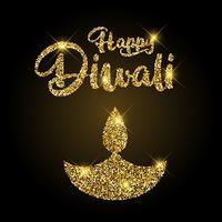 Fundo brilhante de Diwali vetor