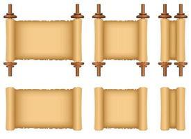 ilustração de desenho vetorial de rolagem de papiro isolada no fundo branco vetor