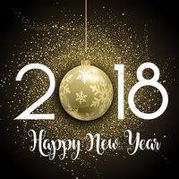 Fundo de brilho de feliz ano novo vetor