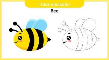 traço e cor de abelha vetor