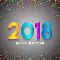 Fundo de confete feliz ano novo vetor
