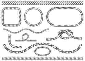 ilustração de desenho vetorial conjunto de corda isolada no fundo branco vetor