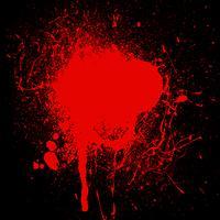 Respingos de sangue vetor