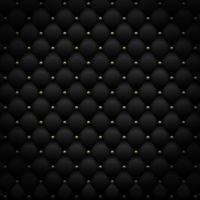 padrão de couro preto com metal dourado. fundo de luxo. ilustração vetorial vetor