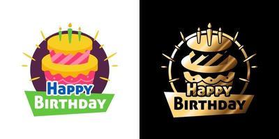 vetor adesivo de feliz aniversário