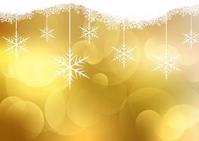Fundo dourado natal vetor