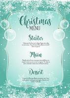 Menu decorativo de Natal vetor