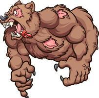 urso zumbi forte vetor