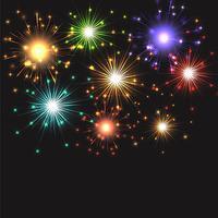 Fogos de artifício explodindo vetor