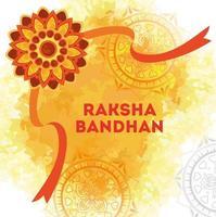 cartão comemorativo com rakhi decorativo para raksha bandhan