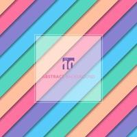 padrão geométrico listrado abstrato de cor pastel com fundo de sombra e textura. vetor