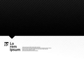modelo preto e branco com linhas diagonais padrão de fundo e textura. vetor