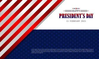 histórico do dia do presidente vetor