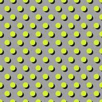 padrão de bolinhas verde brilhante sem costura abstrato em fundo cinza vetor