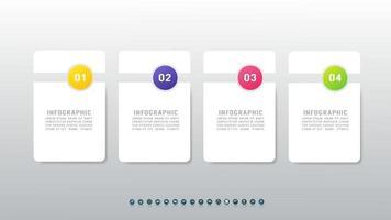 conceito criativo 4 etapas infográfico com lugar para o seu texto. vetor