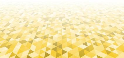 triângulos amarelos geométricos modernos abstratos padrão perspectiva de fundo e textura. vetor