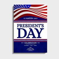 modelo de design do dia do presidente vetor