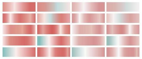 gradiente de cor coral em fundo branco vetor