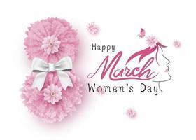 8 de março ilustração vetorial feliz dia das mulheres