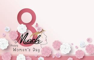 8 de março ilustração vetorial feliz dia da mulher vetor