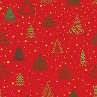 árvore de Natal neve inverno floresta padrão. vetor