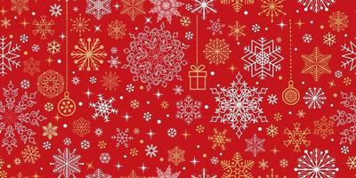 padrão sem emenda de Natal. ícones de férias e fundo de cristal rendado vetor