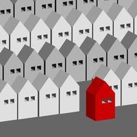 casa isométrica design edifícios ilustração vetorial de conceito de negócio