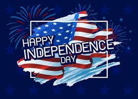 ilustração em vetor eua 4 de julho feliz dia da independência