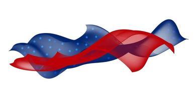 desenho de linha suave de ilustração vetorial da bandeira dos EUA vetor